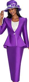 GMI G5493 Purple / Silver - Womens Church Suits