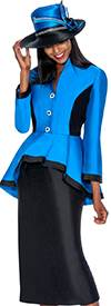 Clearance GMI G5562 Royal / Black - Womens Church Suits