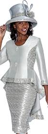 GMI G6012 Silver - Womens Church Suits