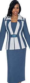GMI GK5452 Slate Blue / Silver - Womens Church Suits