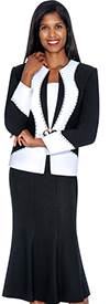 GMI GK5462 Black / White - Womens Church Suits