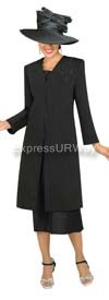 GMI G3813 Black Womens Church Suits
