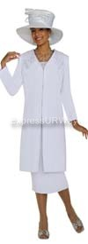 GMI G3813 White Womens Church Suits