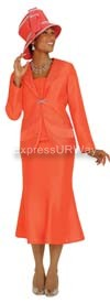 GMI G3872 Orange Womens Church Suits