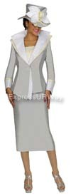 GMI G4152 Silver Womens Church Suits