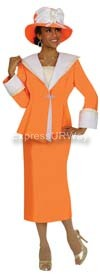 GMI G4152 Orange Womens Church Suits
