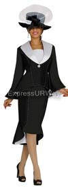 GMI G4172 Black-White Womens Church Suits