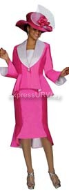 GMI G4172 Pink-White Womens Church Suits
