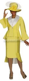 GMI G4172 Yellow-White Womens Church Suits