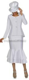GMI G4212 White Womens Church Suits