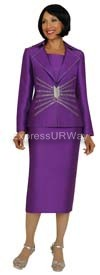 GMI G4333 Purple Womens Church Suits
