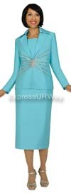 GMI G4333 Sea-Green Womens Church Suits