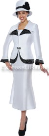 GMI G4292 White/Black - Womens Church Suits