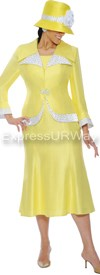 GMI G4292 Yellow/White - Womens Church Suits