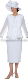 GMI G4393 White - Womens Church Suits
