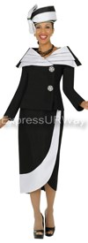 GMI G4522 Black / White - Womens Church Suits