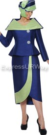 GMI G4522 Navy / Lime - Womens Church Suits