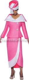 GMI G4522 Magenta / White - Womens Church Suits