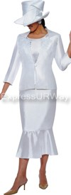 Clearance GMI G4643 White - Womens Church Suits