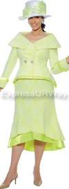Clearance GMI G4652 White / Citrus- Womens Church Suits