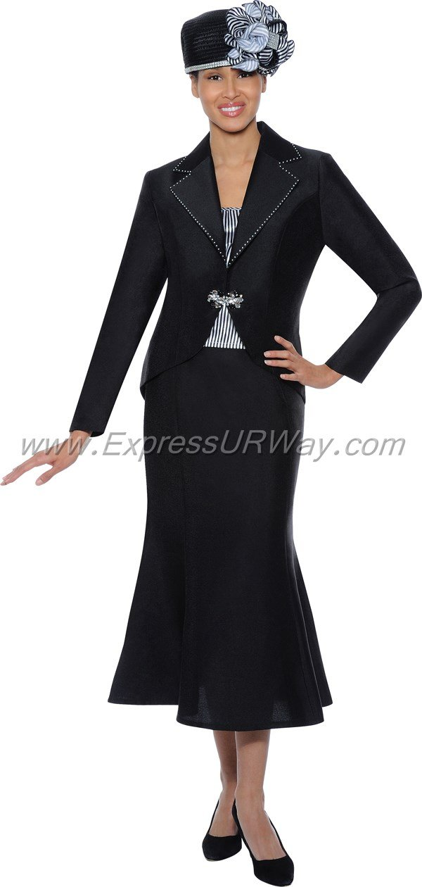 GMI G4673 Black / Black White - Womens Church Suits