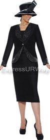 Clearance GMI G4733 Black - Womens Church Suits