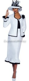 GMI G4773 White / Black - Womens Church Suits