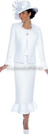 Clearance GMI G4773 White - Womens Church Suits