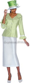 GMI G4902 Green / White - Womens Church Suits