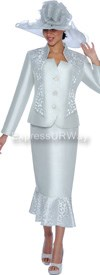 Clearance GMI G5012 Silver - Womens Church Suits