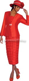 GMI G5023 Red - Womens Church Suits