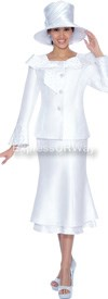 Clearance GMI G5052 White - Womens Church Suits