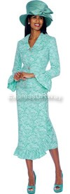 GMI G5082 Green / White - Womens Church Suits