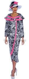 GMI G5092 Black / White / Pink - Womens Church Suits