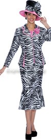 GMI G5103 Black / White / Pink - Womens Church Suits