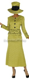 Clearance GMI G4552 Chartreuse Womens Church Suits