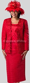 Clearance Giovanna G1001 Red - Womens Church Suits