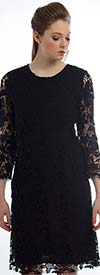 JSong 1298-Black Quintessential Lace Dress For Women