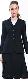 JSong 158S-Black - Jacket & Skirt Suit For Women