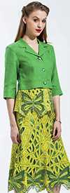 JSong 1783-Green/Citrus Womens Suit