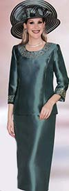 Lily and Taylor 3219 Silky Twill Suit With Rhinestones