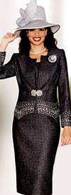 Lily and Taylor 3546 Womens Rhinestone Adorned Church Suit