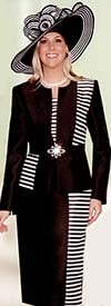 Lily and Taylor 3600 Womens Suit With Stripes