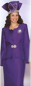 Lily and Taylor 3632 Silky Twill Skirt Suit For Church