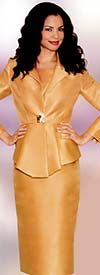 Lily and Taylor 3673 Ladies Silky Crepe Skirt Suit