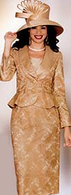 Lily and Taylor 3736 Womens Lace Suit With Flounce Jacket
