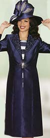 Lily and Taylor 3747 Silky Twill Duster With Novelty Dress