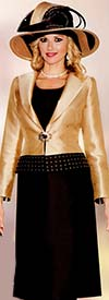 Lily and Taylor 3748 Silky Twill Womens Suit With Studs