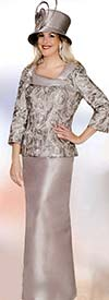 Clearance Lily and Taylor 3750 Lace Top With Silky Twill Skirt Suit