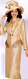 Lily and Taylor 3755 Womens Silky Twill Suit With Rhinestones